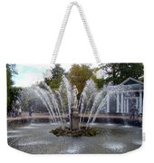 Fountain On The Grounds Of The Peterhof Grand Palace Weekender Tote Bag