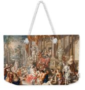 Fountain Scene In Front Of A Palace Weekender Tote Bag
