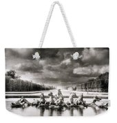 Fountain With Sea Gods At The Palace Of Versailles In Paris Weekender Tote Bag