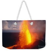 Fountaining Kilauea Weekender Tote Bag