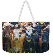 Four At The Fence Weekender Tote Bag