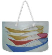 Four Boats And A White One Weekender Tote Bag