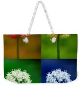 Four Colorful Onion Flower Power Weekender Tote Bag