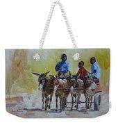 Four Donkey Drawn Cart Weekender Tote Bag