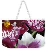 Four Exotic Orchid Blossoms Weekender Tote Bag