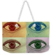 Four Eyes In Pop Art Weekender Tote Bag