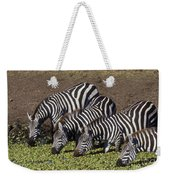 Four For Lunch - Zebras Weekender Tote Bag