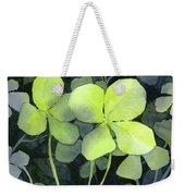 Four Leaf Clover Watercolor Weekender Tote Bag