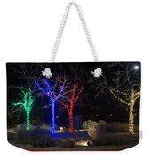 Four Lighted Trees Weekender Tote Bag
