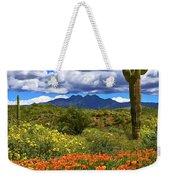 Four Peaks And Poppies, Springtime, Arizona Weekender Tote Bag