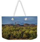 Four Peaks On The Horizon  Weekender Tote Bag