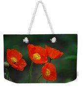 Four Poppies Weekender Tote Bag
