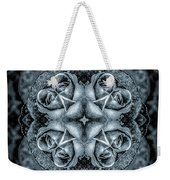 Noir Four Roses Symmetrical Focus Weekender Tote Bag