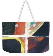 Four Squares Orange Slash Weekender Tote Bag