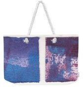 Four Squares Turquoise Flow Weekender Tote Bag