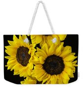 Four Sunny Sunflowers Weekender Tote Bag