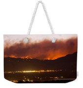 Fourmile Canyon Fire Burning Above North Boulder Weekender Tote Bag