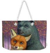 Fox And Bear Couple Weekender Tote Bag