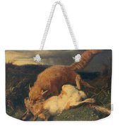 Fox And Hare Weekender Tote Bag by Johann Baptist Hofner
