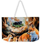 Fox Family Addition Weekender Tote Bag
