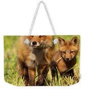 Fox Family Weekender Tote Bag