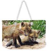 Fox Feather Play Weekender Tote Bag