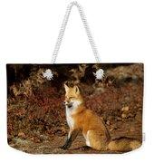 Fox In The Fall Weekender Tote Bag