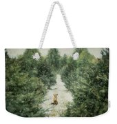 Fox In The Flurries Weekender Tote Bag