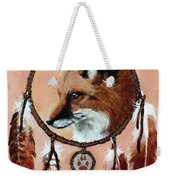 Fox Medicine Wheel Weekender Tote Bag by Brandy Woods