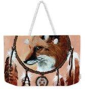 Fox Medicine Wheel Weekender Tote Bag