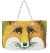 Fox Portrait Weekender Tote Bag