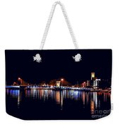 Fox River Green Bay At Night Weekender Tote Bag