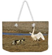 Fox Vs Swan Weekender Tote Bag