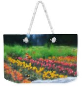 Fox Watching The Tulips Weekender Tote Bag