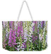 Foxglove Garden - Digital Art Weekender Tote Bag