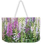 Foxglove Garden - Vertical Weekender Tote Bag