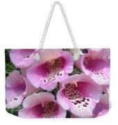 Foxglove Plant - Pink Bell Flowers. Macro Weekender Tote Bag