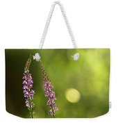 Foxgloves In The Late Summer Sun Weekender Tote Bag