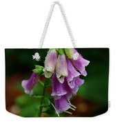Foxgloves In The Rain Weekender Tote Bag