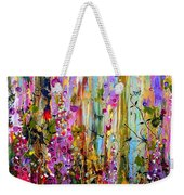 Foxgloves Panel One Weekender Tote Bag