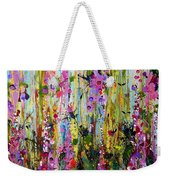Foxgloves Panel Two Weekender Tote Bag