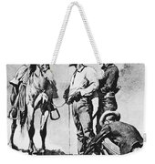 Fr 043 Third Cavalry Trooper Searching A Suspected Revolutionist Fredericremington Sqs Frederick Remington Weekender Tote Bag