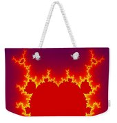 Fractal Burning Heart Weekender Tote Bag