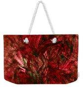 Fractal Christmas Bow Weekender Tote Bag