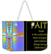 Fractal Faith Hebrews 11 Weekender Tote Bag by Rose Santuci-Sofranko