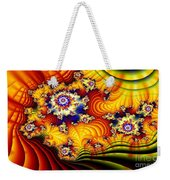 Fractal Furrows Weekender Tote Bag