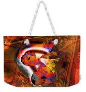 Fractal Heart Weekender Tote Bag
