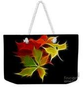 Fractal Leaves Weekender Tote Bag