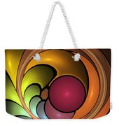 Fractal With Orange, Yellow And Red Weekender Tote Bag