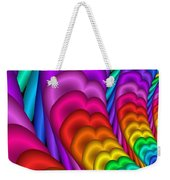 Fractalized Colors -10- Weekender Tote Bag by Issabild -